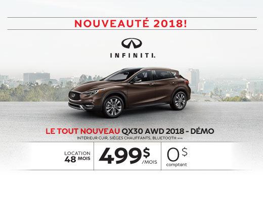 Le tout nouveau QX30 FWD 2018 démo
