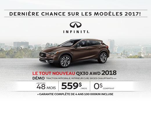 Le tout nouveau QX30 2018
