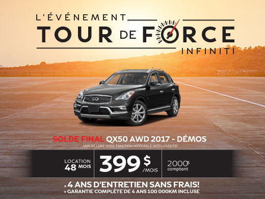 SOLDE FINAL QX50 AWD 2017 -  Démo