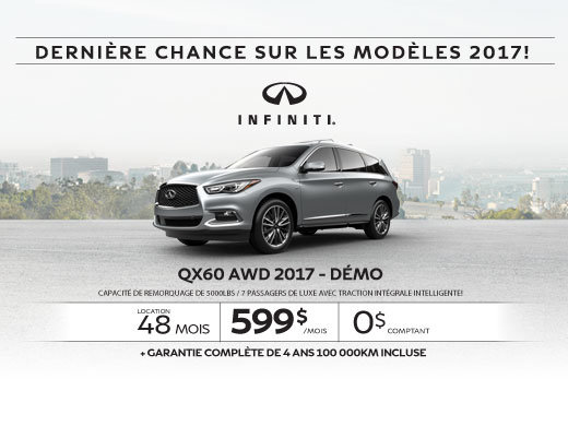 L'Infiniti QX60 2017 démo en rabais