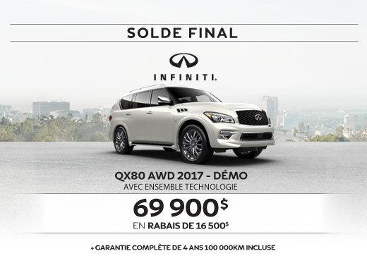 Dernier appel...Solde sur le QX80 AWD 2017
