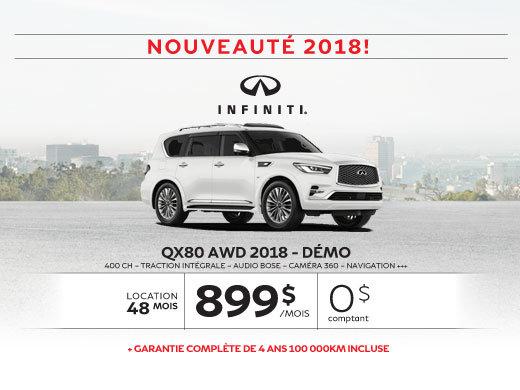 QX80 AWD 2018 démo