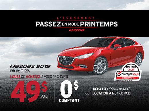 La Mazda3 2018