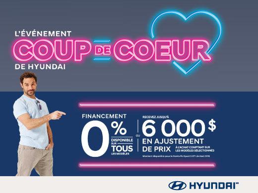 L'événement COUP DE CŒUR chez Hyundai Magog!