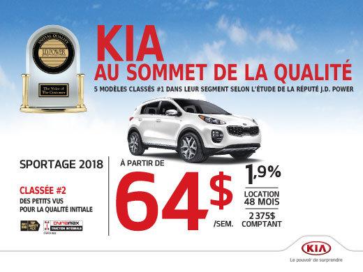 La Kia Sportage 2018 en rabais