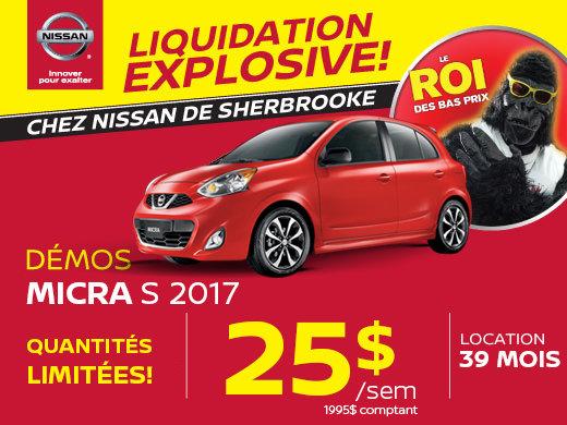 Démos Nissan Micra 2017 en rabais