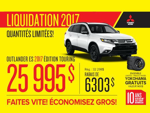 Mitsubishi Outlander 2017 en rabais