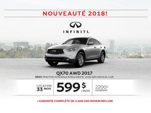QX70 AWD dernier appel … pour le solde 2017!