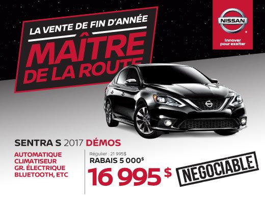 Nissan Sentra S 2017 démos en rabais