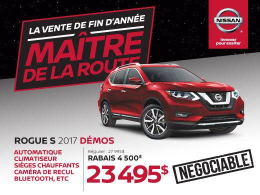 Nissan Rogue S 2017 démos en rabais