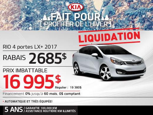 Liquidation Rio 4 portes LX+ 2017