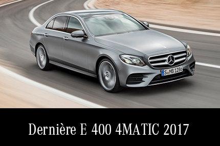 Dernière E400 4MATIC 2017 en rabais