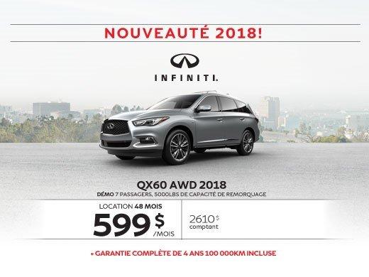 Le tout nouveau QX60 AWD 2018
