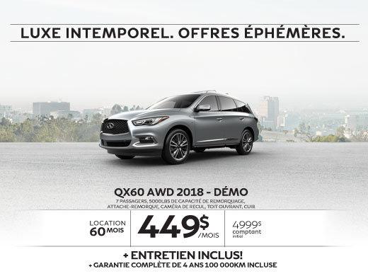 QX60 AWD 2018 Démo