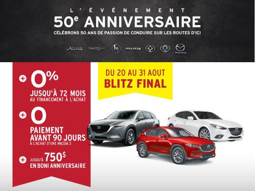 L'événement 50e anniversaire Mazda - BLITZ FINAL