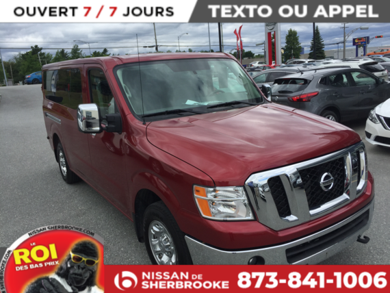 Nissan NV PASSENGER 2017 SL V8 12 PASSAGERS CUIR GPS COMME NEUF