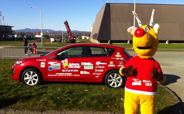 Depuis 8 ans MAZDA DE SHERBROOKE est fier partenaire Nez Rouge en fournissant la voiture officiel de la mascotte