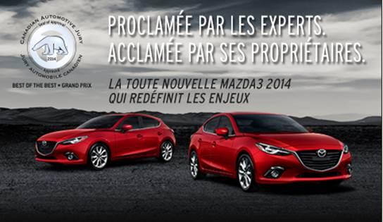 La Mazda3 2014 vs la compétition