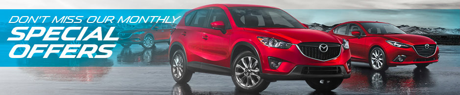 Don't miss our monthly Special Offers from Kramer Mazda